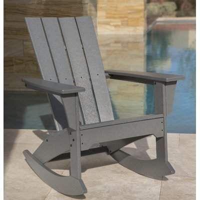 Polywood Quattro Plastic Rocking Adirondack Chair Resin