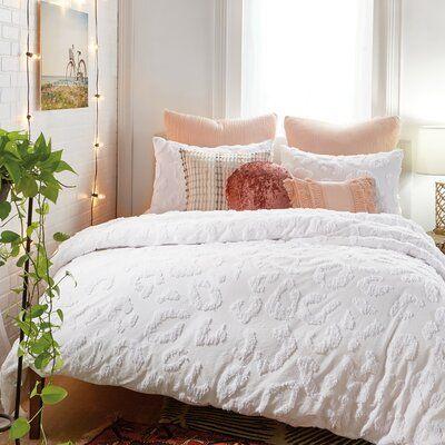 Rosdorf Park Paz Chenille Leopard Duvet Cover Set Wayfair Comforter Sets Leopard Bedding Duvet Sets