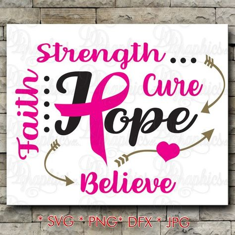 Download @etsy Pinterest pin Breast Cancer SVG, Hope, Love, Faith ...