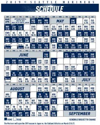 picture relating to Mariners Printable Schedule titled Printable Plan Seattle Mariners Exercise Seattle