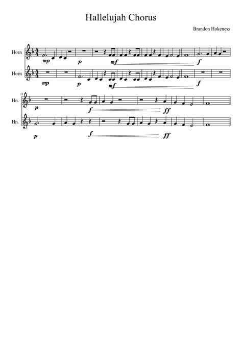 Sheet music made by bdhokeness for 2 parts horn chamber groups sheet music made by bdhokeness for 2 parts horn chamber groups pinterest sheet music stopboris Images