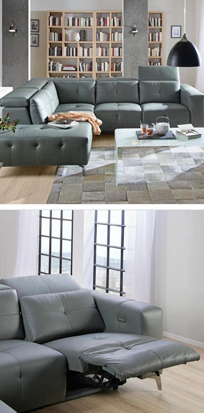 Wohnlandschaft Grau Leder Sofas Couches In 2019 Couch Leder