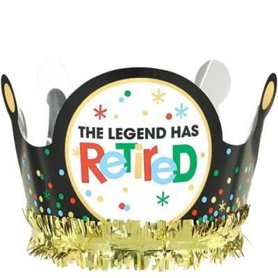 This Happy Retirement Celebration Crown features colorful designs and a 'The Legend Has Retired' headline. Make your friend or family member feel like royalty at their retirement party with this crown! Retirement Party Centerpieces, Retirement Party Cakes, Teacher Retirement Parties, Retirement Gifts For Men, Retirement Celebration, Retirement Party Decorations, Retirement Ideas, Happy Retirement Wishes, Crown Party