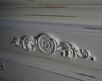 Shabby Chic Scroll Vintage Resin furniture Mouldings Onlays White//Gold//Silver