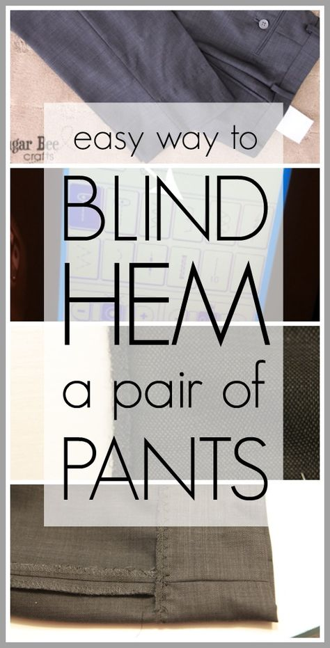 How to Blind Hem Pants
