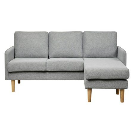 Wondrous Gold Sparrow Fernley Chambray Reversible Sectional Sofa Bralicious Painted Fabric Chair Ideas Braliciousco