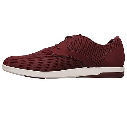 76ae89284cb7 Mark Nason Skechers Men s Lite Block Geffen Memory Foam Lace Up Sneakers  (Burgundy)