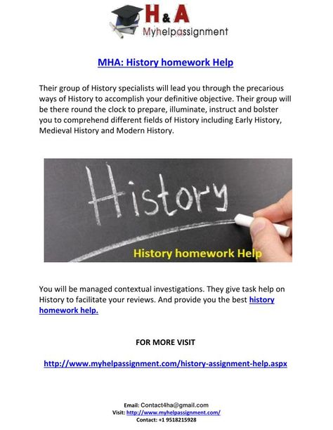 homework help on history
