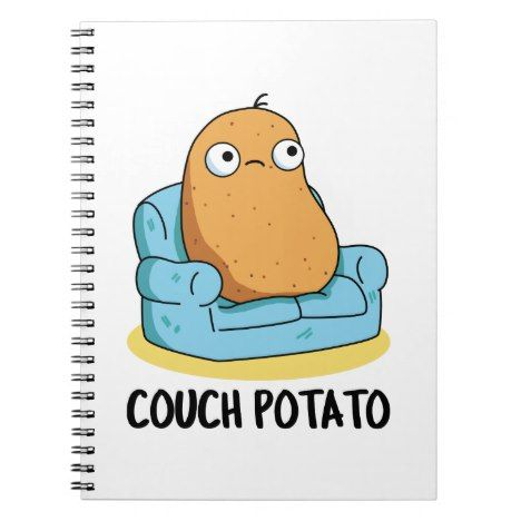 Couch Potato Cute Potato Pun Notebook Zazzle Com Potato Puns Cute Potato Couch Potato