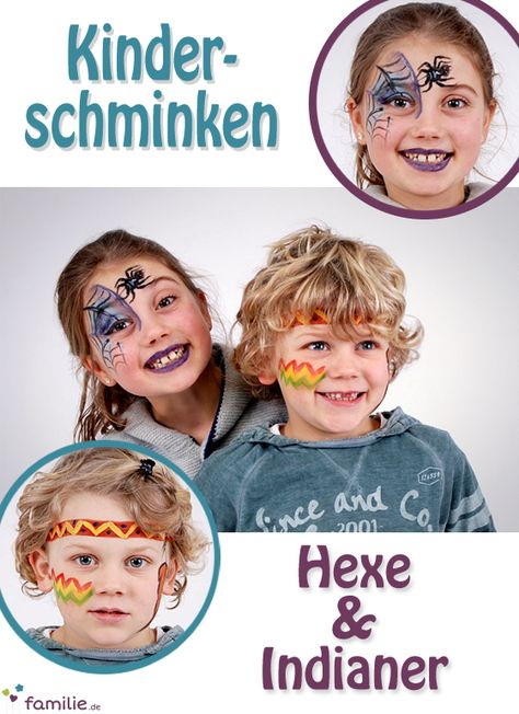 Hexe und Indianer schminken: so geht's!