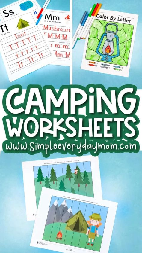 Camping Worksheets For Kids