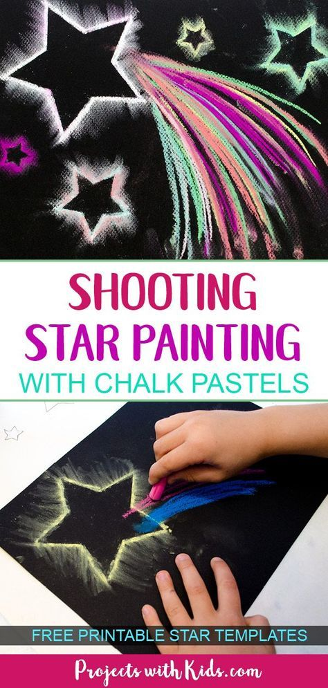 Dazzling Shooting Star Paintings With Chalk Pastels Star