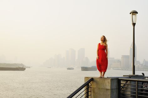 Free Image on Pixabay - Woman In Red Skirt, Woman, The Bund