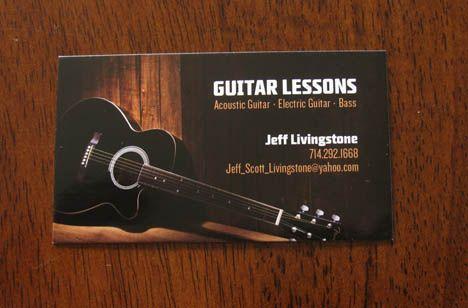 Guitar Business Cards Httpcoolestbusinesscardinspirationcreative Guitar Lessons Free Basic Guitar Lessons Guitar Lessons Online Guitar Lessons