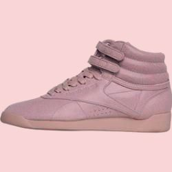 Reebok Classics Damen Freestyle Hi Hi Tops Altrosa Reebokreebok In 2020 Sneaker Boots High Top Sneakers Reebok Classics