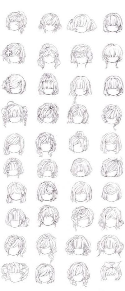 Short Curly Hair Drawing : short, curly, drawing, Fashion, Sketches, Curly, Ideas, Short, Drawing,, Anime, Hair,