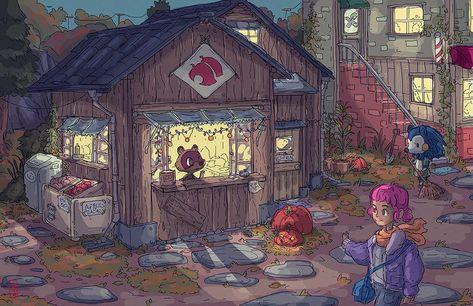 Animal Crossing: Nookling Junction Fan Art Print | Etsy