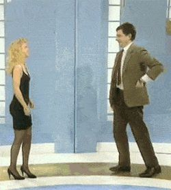 "When you need some personal space. | Community Post: 26 ""Mr. Bean"" Reactions For Everyday Situations"
