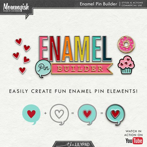 Mommyish Enamel Pin Builder This Set Of Styles And Actions