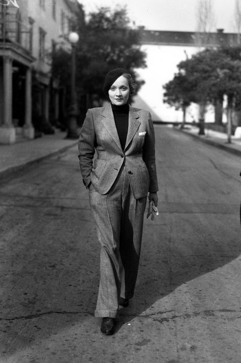 #marimacho is a classic fashion for the unconventionally masculine #Marlene_Dietrich