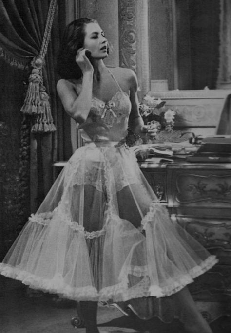 Cyd Charisse circa 1940's (in Silk Stockings). Lovely lingerie and petticoat. The art of underclothing <3