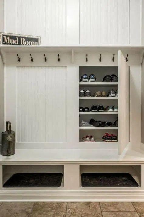 Mudroom Shoe Storage Ikea Mud Rooms 43 Ideas For 2019 Mudroom Storage Bench, Entryway Shoe Storage, Mudroom Laundry Room, Bench With Storage, Closet Storage, Storage Bins, Diy Storage, Kitchen Storage, Locker Storage