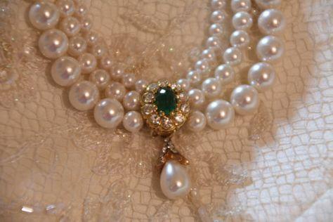 Wedding Pearls Necklace Real Stone Emerald Bridal Green Gem Bride Necklace Genuine Pearls Crystals Rhinestone Gold Bridal Necklace Goldfield Real Pearl Necklace Pearl Necklace Wedding Bridal Pearl Necklace