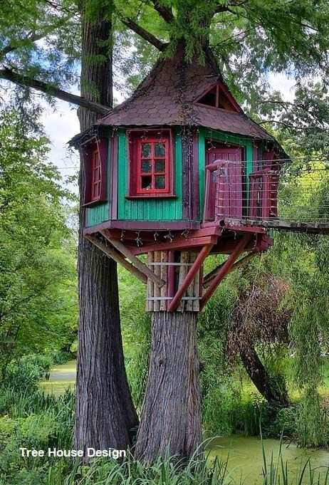 Best Tree House Designs Treehouse In 2020 Cool Tree Houses