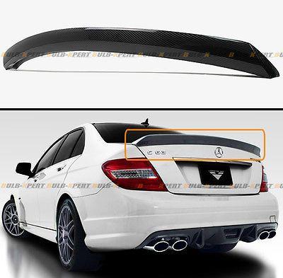 For Mercedes Benz W204 C250 C300 C63 Carbon Fiber V Style Duckbill Trunk Spoiler Ebay Mercedes Benz Mercedes Benz