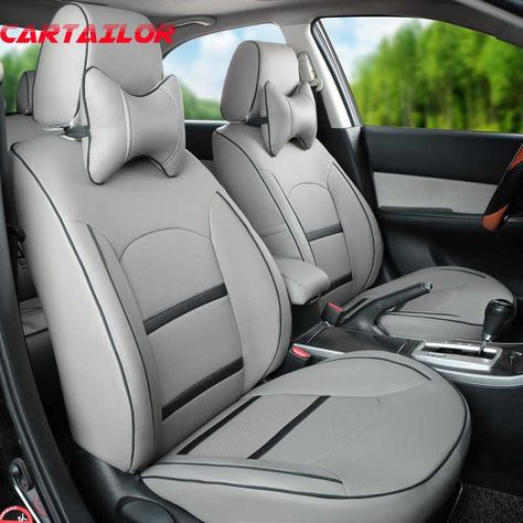 Renault Megane Clio Kadjar Front Seat Covers Deluxe Grey PU Leather Padded