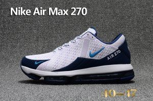 Mens Nike Air Max 270 Flair KPU Sneakers White Navy Blue