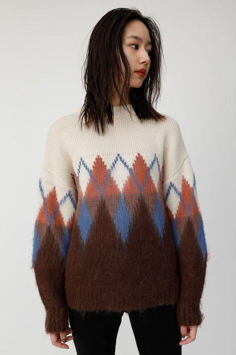ZIGZAG knit tops