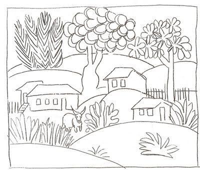 Desenhoshos Desenho De Uma Paisagem Natural Tarsila Casa Para