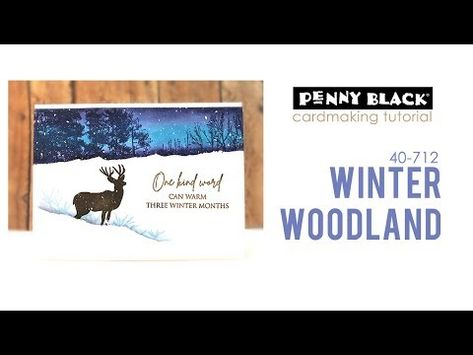 Penny Black 40-712 Winter Woodland Cling Rubber Stamp