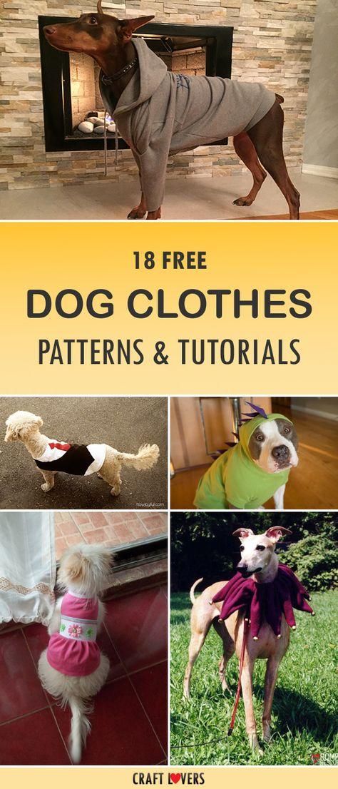 18 Free Dog Clothes Patterns & Tutorials