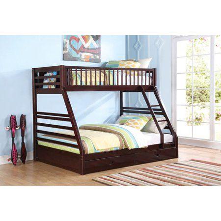 Acme Furniture Jason Espresso Twin Queen Bunk Bed Box 2 Of 2