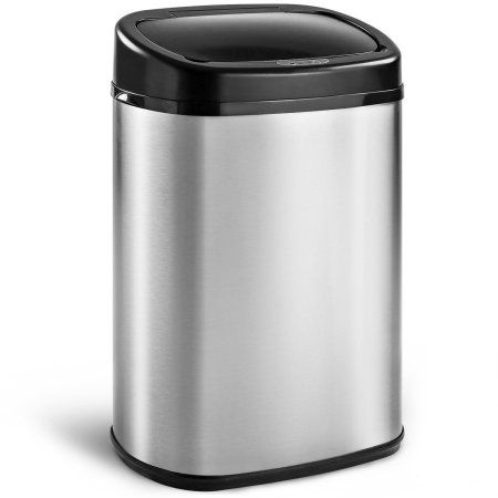 Harper Designs 13 Gallon Touchless Sensor Kitchen Trash Can Stainless Steel Eclecticbedrooms Kitchen Trash Cans Trash Can Eclectic Bedroom