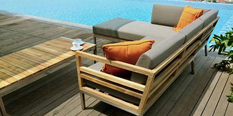 Vancouver Double Seater Sofa - Teak Wood Outdoor Sofa Set ...