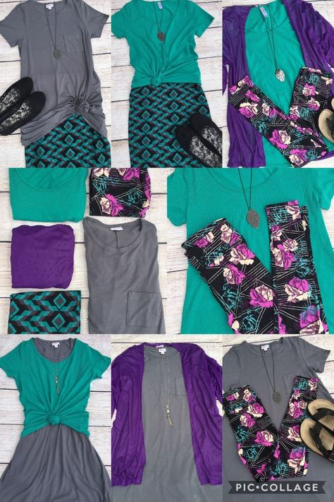 Styled by LuLaRoe Emilye Everett. looks like the same five pieces mixed & matched. worn differently to create various looks.