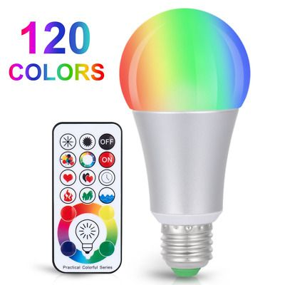 Sponsored Link 120 Colors Led Light Bulb Dimmable E26 10w Rgbw