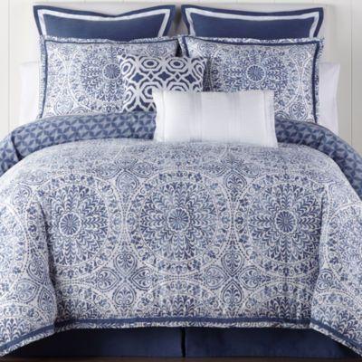 Liz Claiborne Melbourne 4 Pc Reversible Comforter Set Guest Room Comforter Sets Jcpenney Bedding Bed Comforter Sets