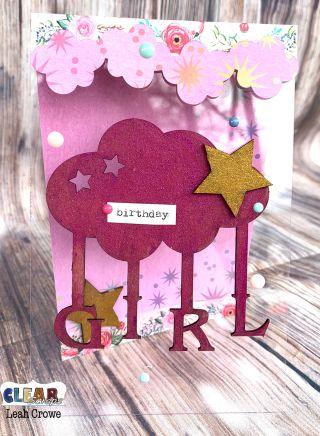 Baby Girl Acrylic Card Acrylic Sheets Cards Acrylic
