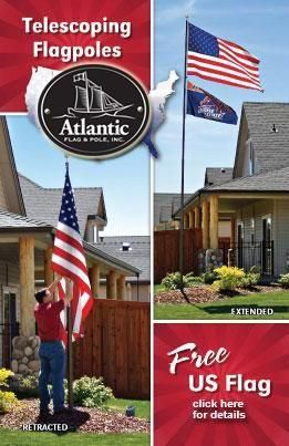 Our Ez To Use Flagpole Is American Made And Made To Last Free American Flag Included Flagpole Flag Poles For Sale Flag Pole Landscaping Telescoping Flagpole