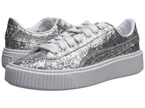 Puma Basket Platform Glitter Women s Shoes  5bc4ffd34