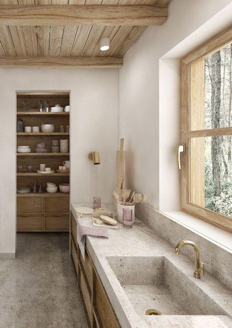 Minimalist kitchen inspiration #minimalist #kitcheninspo #kitchendesign Kitchen Interior, Home Interior Design, Kitchen Decor, Interior Decorating, Kitchen Ideas, Italian Interior Design, Japanese Interior, Top Interior Designers, Küchen Design