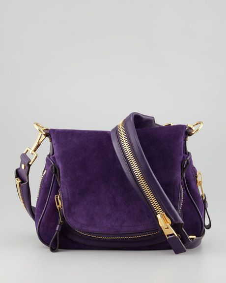 a6749f2c89d9c Tom Ford messenger bag in purple