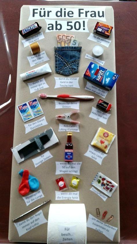 Geschenke zum 50 geburtstag mama pinterest