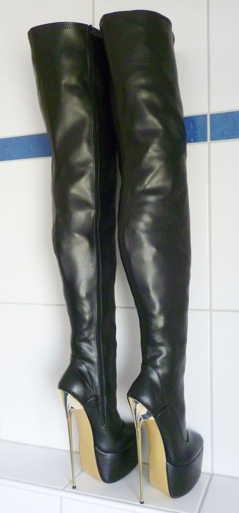 Ultra Crotch Plateau Stiefel Gr. 43/44 oder 44/45, 23 cm extreme high heels   Kleidung & Accessoires, Damenschuhe, Stiefel & Stiefeletten   eBay!