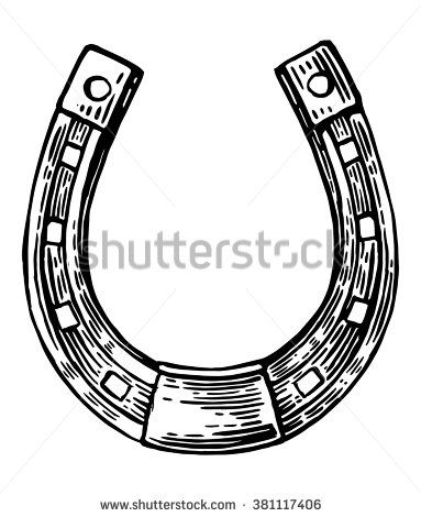Luck Horseshoe Vector Vintage Engraved Illustration Isolated On White Background Engraving Illustration Horseshoe Viking Tattoos