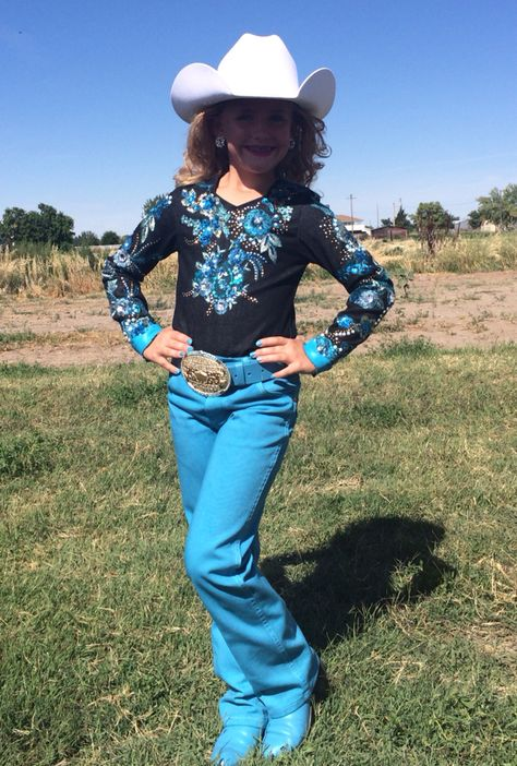 Kristi Q. Original top. Pants, boot and belt professionally dyed by Rodeo Ink.